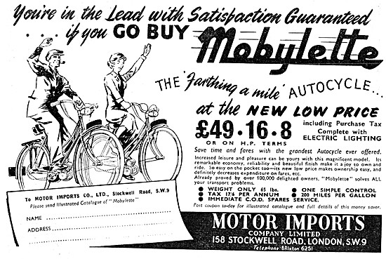 1952 Mobylette Autocycle