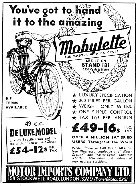 Mobylette 49 cc Deluxe Moped