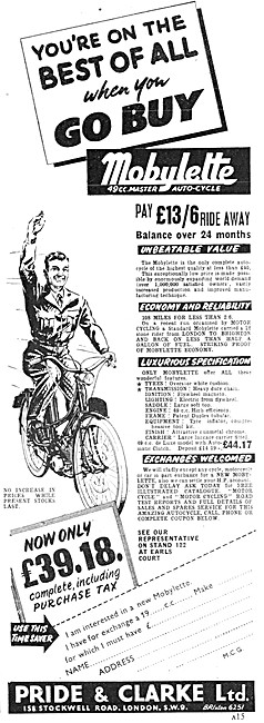Mobylette Moped - Pride & Clarke - Mobylette Master Auto-Cycle