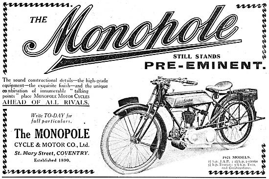 Monopole Motor Cycles - Monopole 2 3/4 hp Two-Stroke