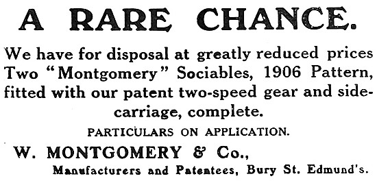 1907 Montgomery Motor Cycles &  Sidecars - Montgomery Sociables