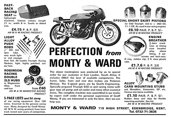 Monty & Ward Performance Motorcycle Parts