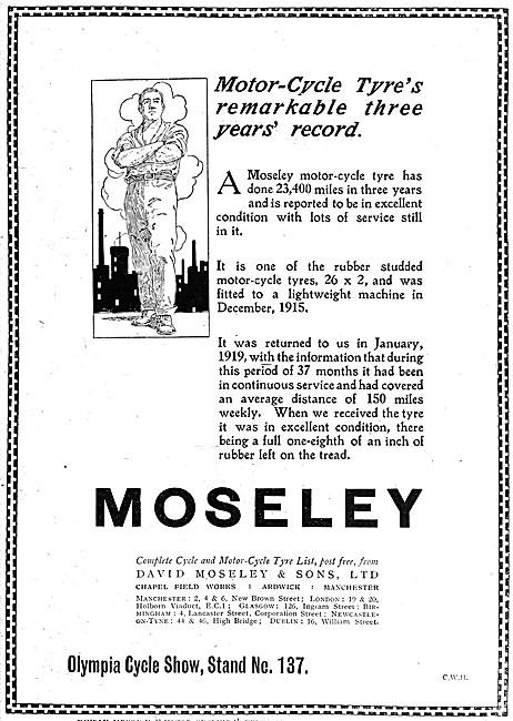 Moseley Motor Cycle Tyres 1919