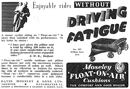 Moseley Float-On-Air Cushions - Moseley No 217 Pillion Seat
