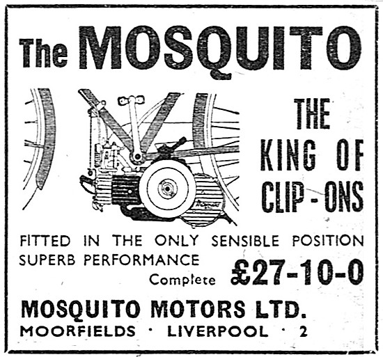 1951 Mosquito Clip-On Cycle Motor 38 cc