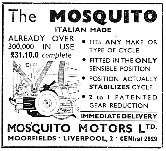 1952 Mosquito Cycle Motor 38 cc