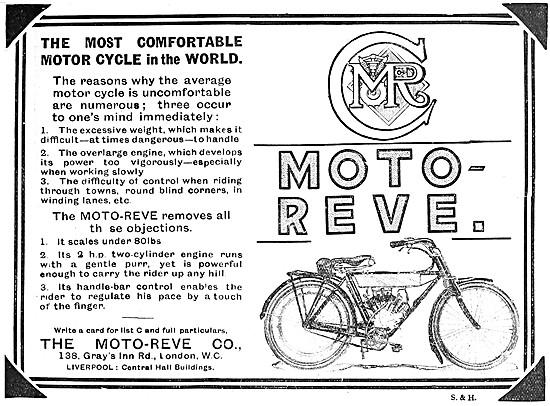 2 hp Moto-Reve Motor Cycle Advert 1908