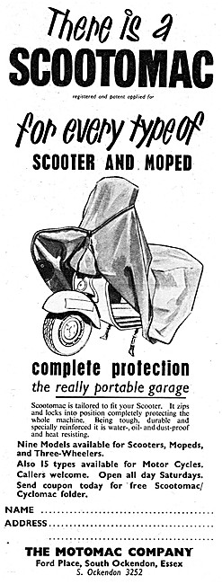 Scootomac Weatherproof Protective Cover For Motor Scooters
