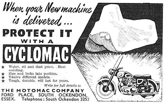Cyclomac Weatherproof Protective Cover For Motor Cycles