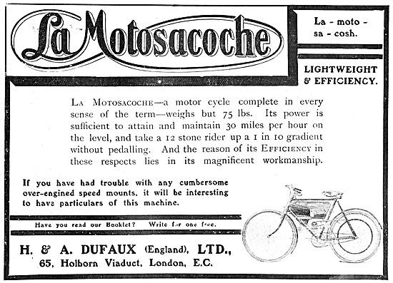 1907 Motosacoche Motor Cycle
