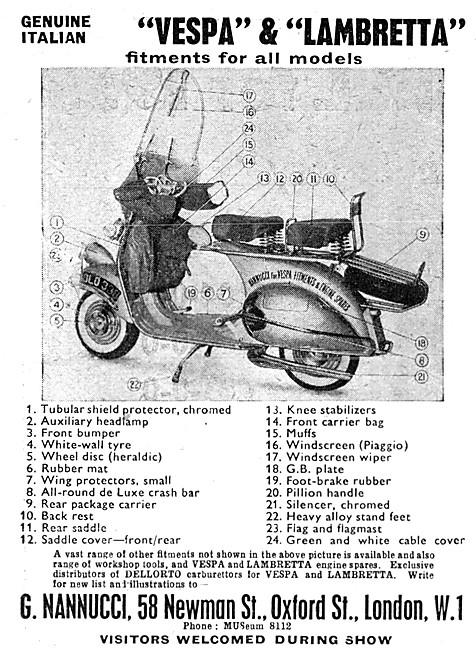 Nannucci Vespa & Lambretta Motor Scooter Accessories