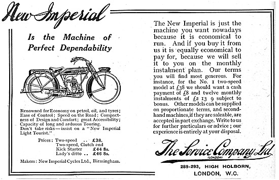 New Imperial Motor Cycles 1916