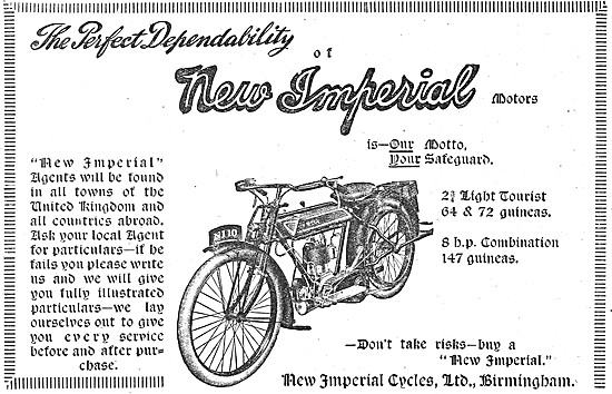 1919 2.75 hp New Imperial  Light Tourist Motor Cycles