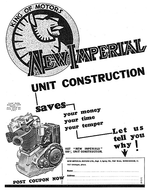 New Imperial Motor Cycles 1936