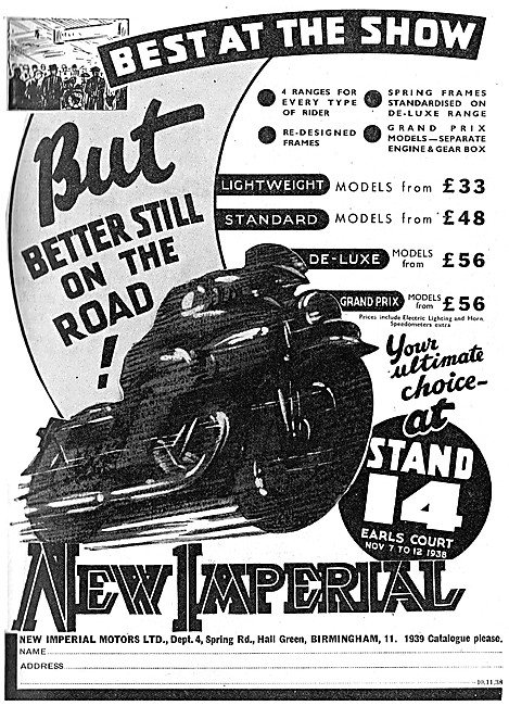 New Imperial Motor Cycles 1938