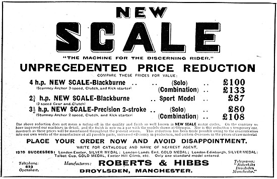 New Scale Motor Cycles - New Scale-Blackburne 4 hp