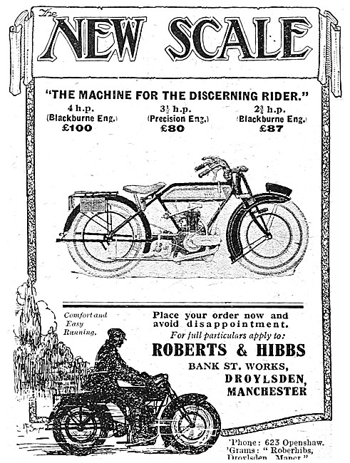 New Scale Blackburne - New Scale Precision Eng Motor Cycles 1921