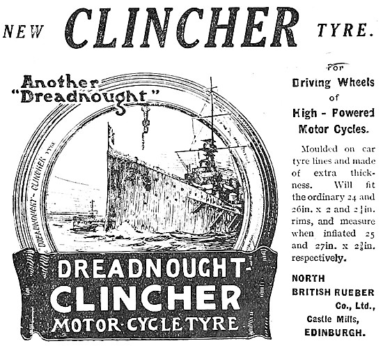North British Rubber. Clincher Motor Cycle Tyres