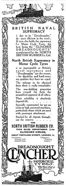 North British Rubber Tyres - Dreadnought Clincher Tyres