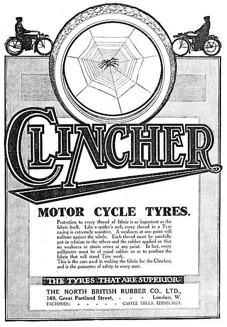 North British Rubber Clincher Motorcycle Tyres