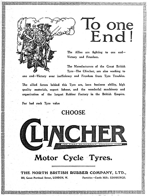 North British Rubber Clincher Motor Cycle Tyres