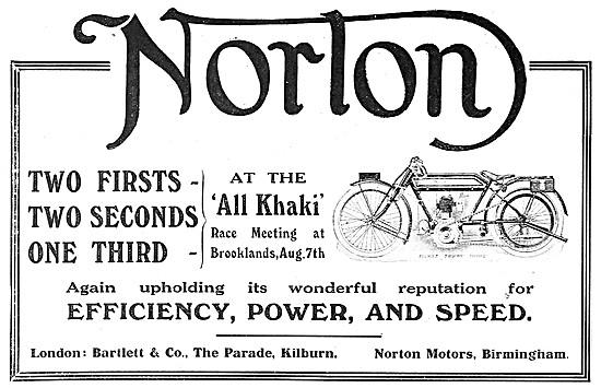 Norton Motor Cycles 1915
