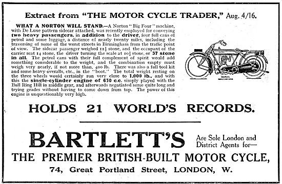1916 Norton 650 cc Motor Cycle