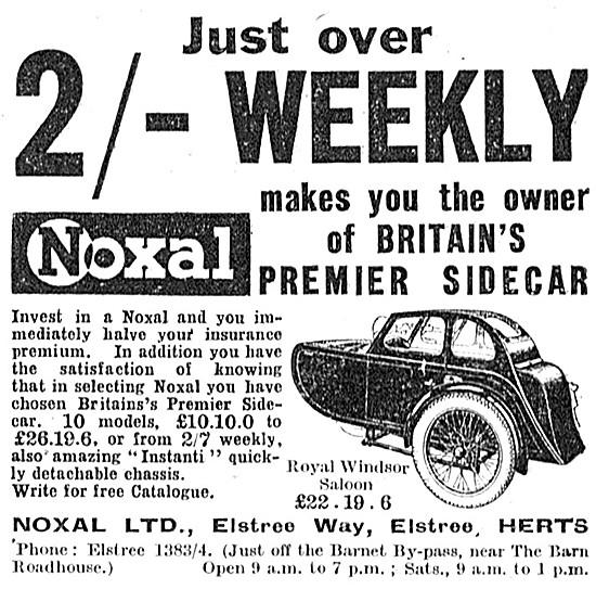 Noxal Sidecars - Noxal Royal Windsor Saloon Sidecar