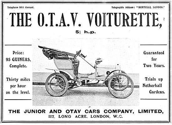 O.T.A.V. Cars - 1908 O.T.A.V. Voiturette