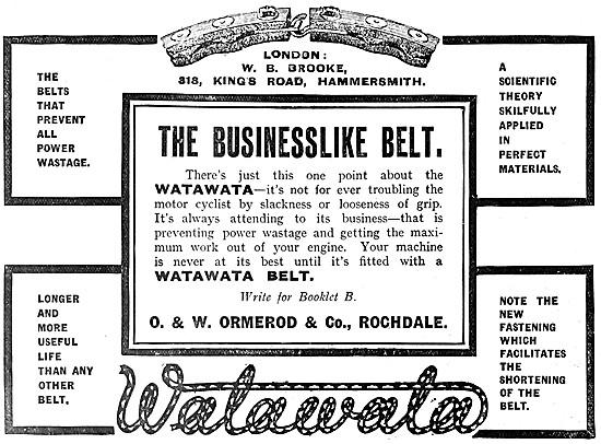 Ormerod WATAWATA Belts