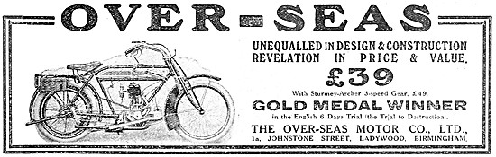 1914 Over-Seas Motor Cycles