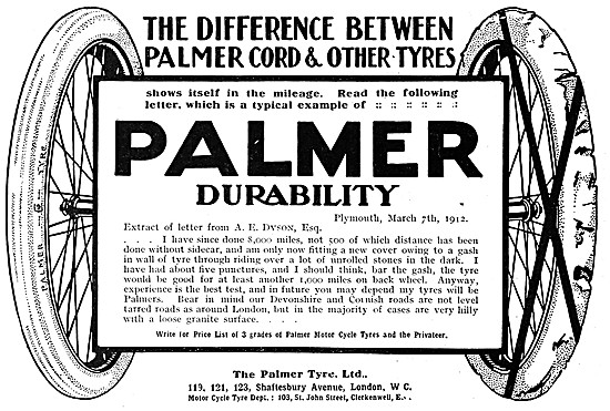 Palmer Tyres - Palmer Cord Tyres - Palmer Motor Cycle Tyres