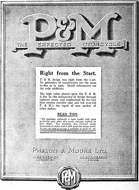 Panther - P.& M. Motor Cycles - Phelon & Moore Motor Cycles