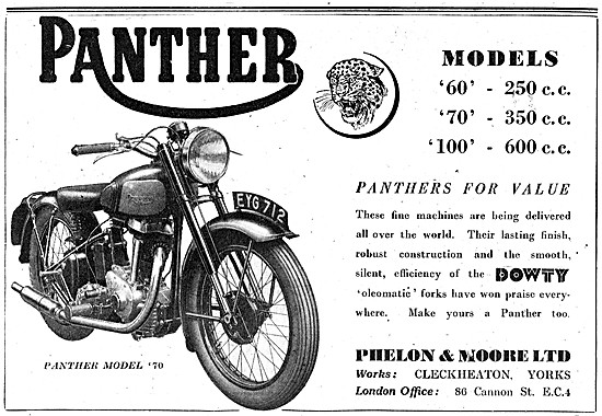 Panther Model 70 Dowty Oleomatic Forks