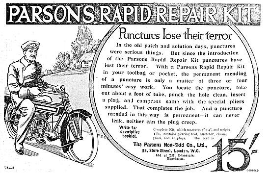 Parsons Rapid Repair Kit Puncture Repair Outfit