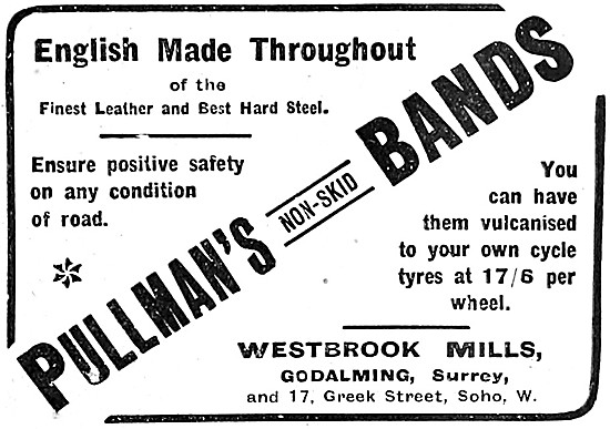 1907 Pullmans Non-Skid Bands - Pullmans Tyres