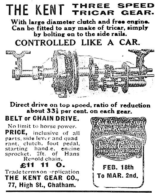 Kent Tricar Gears