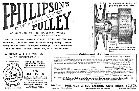 Philipsons Patent Automatic Governer Pulley