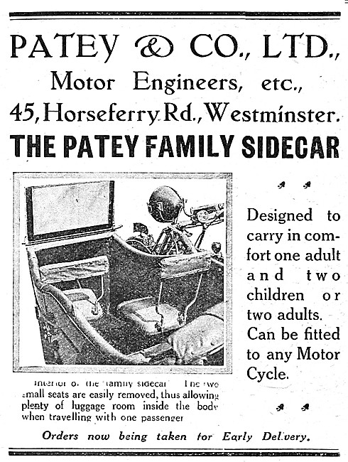 Patey Sidecars - The Patey Family Sidecar 1919