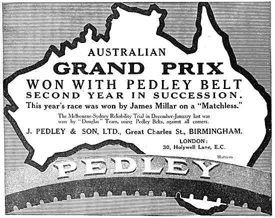 Pedley Motor Cycle Belts - Pedley Motor Cycle Tyres