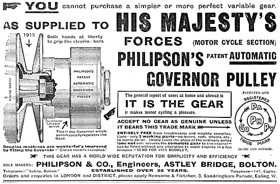 Philipson Automatic Motor Cycle Governer Drive Pulley