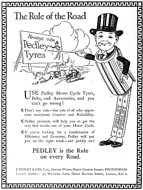 Pedley Tyres - Pedley Motor Cycle Tyres