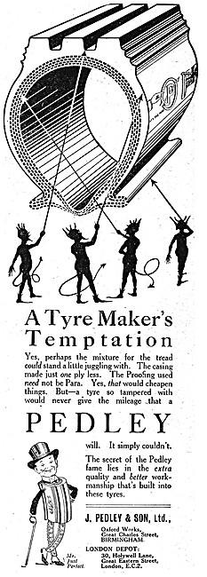 Pedley Tyres 1919 Advert