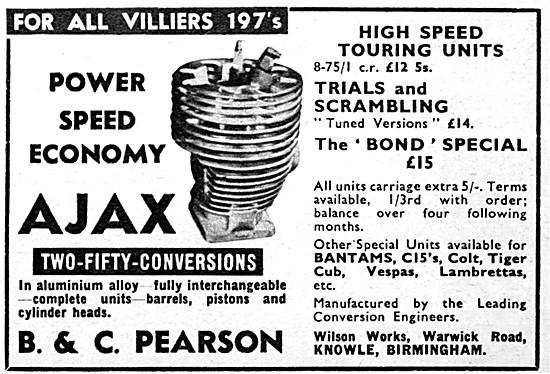 Ajax Villiers High Performance Cylinder Conversions