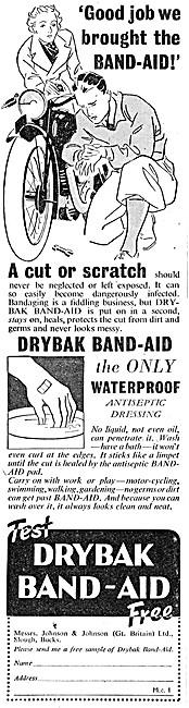 Johnson & Johnson Drybak Band-Aid Dressings