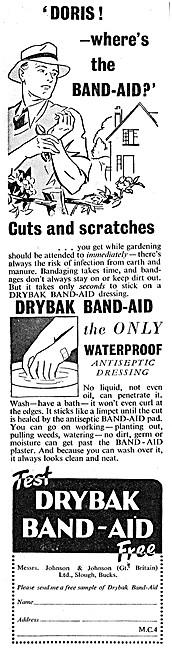 Johnson & Johnson Drybak Band-Aid Dressings 1938
