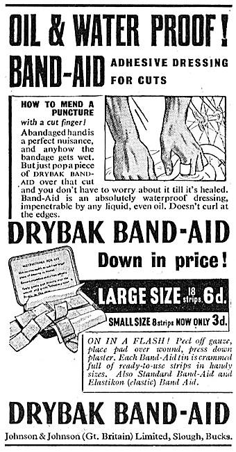 Johnson & Johnson Drybak Band-Aid Adhesive Dressings