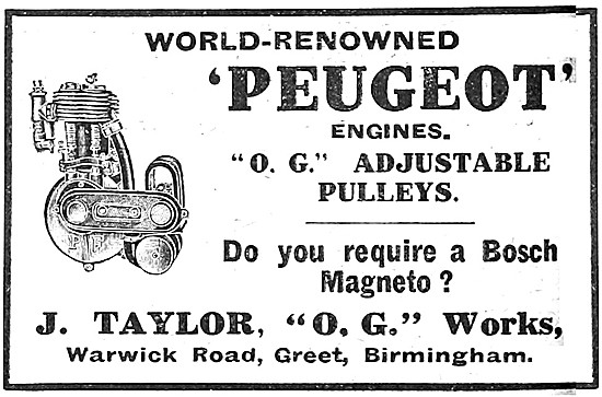 1912 Peugeot Motor Cycle Engines