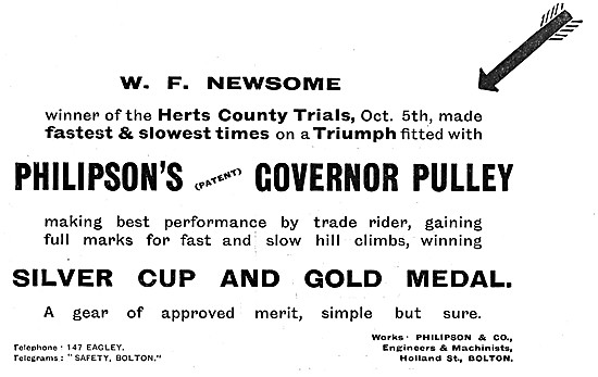 Philipsons Governer Pulley