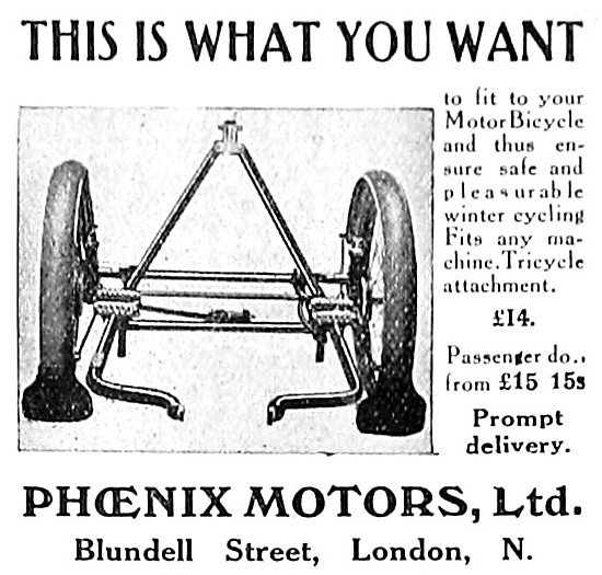 Phoenix Motors Motor Cycle Tricycle Attachment